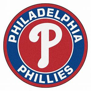 "Philadelphia Phillies Logo Roundel Mat - 27"" Round Area Rug"
