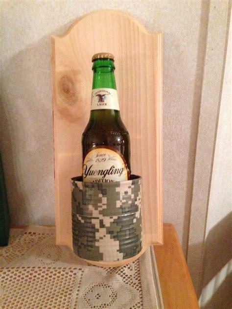 redneck wall mounted beer holder creativity