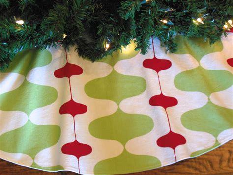 mid century modern christmas tree skirt retro mod tree skirt
