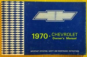 1970 Chevrolet Owners Guide Information