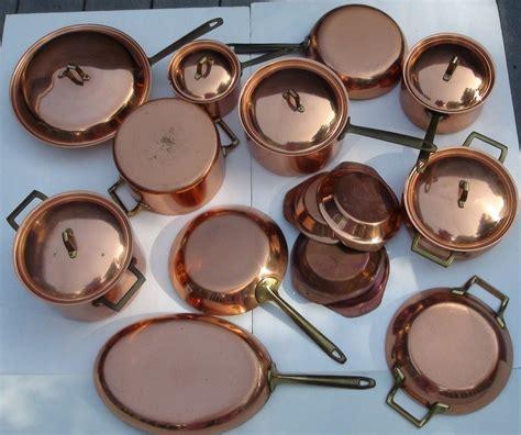 rare vtg paul revere copper cookware signature series pc double boiler unused copper