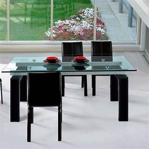 Table à Manger En Verre : table salle a manger en verre mobilier sur enperdresonlapin ~ Teatrodelosmanantiales.com Idées de Décoration