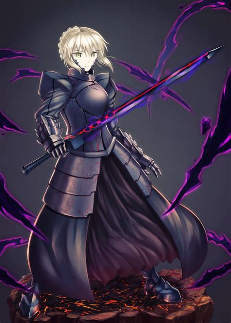 short hair blonde anime anime girls fate stay night