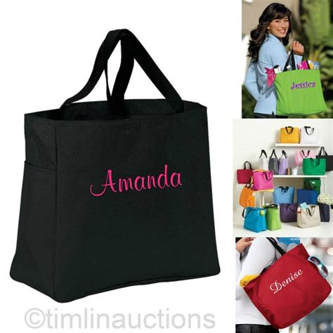 personalized bridesmaid gift tote bags bridal shower