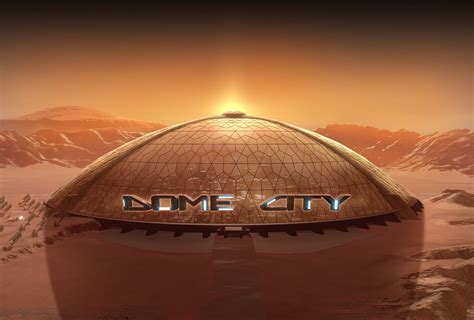 unreal engine  powered dome city   impressive