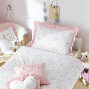 Kinderbettwäsche 100x135 Mädchen : kinderbettw sche f r m dchen in rosa mit herzen bettenhaus sachse ~ Orissabook.com Haus und Dekorationen