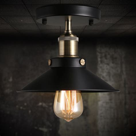 Pendant Sconce Lighting - vintage black ceiling mount light chandelier edison l