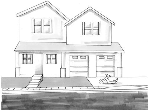 house sketch drawing sketches house drawings treesranch