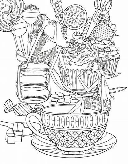 Coloring Pages Tea Adult Coffee Party Adults