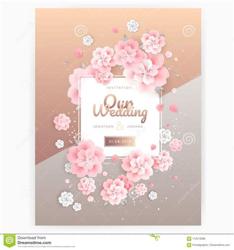 wedding background invitation card template pink roses
