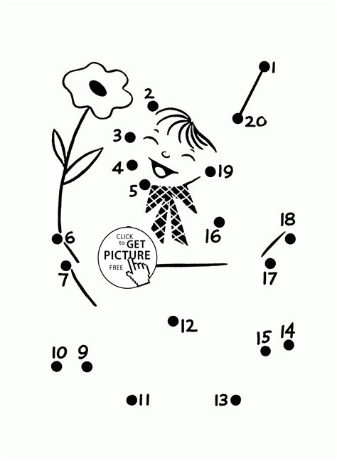 simple connect the dots coloring pages for preschoolers