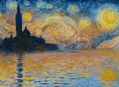 Gogh Van Starry Night Monet Aesthetic Vincent