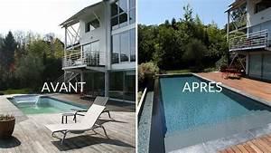 nivremcom terrasse bois piscine a debordement With maison avant apres renovations exterieures 10 conception dune renovation exterieure et dune terrasse