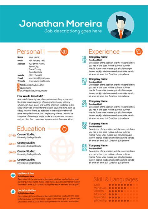 creative professional curriculum citae template