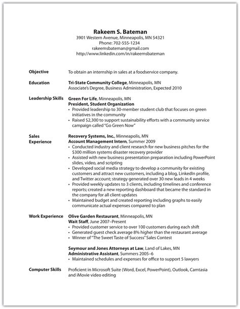 What To Put In Experience Section Of Resume by The Power To Choose Your Path Careers In Sales