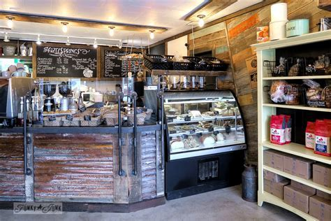 Industrial coffee shop decor you will love!Funky Junk