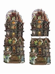 Halloween Deko Kaufen : geisterhaus spukhaus pappfiguren halloween party deko set 2 ~ Michelbontemps.com Haus und Dekorationen