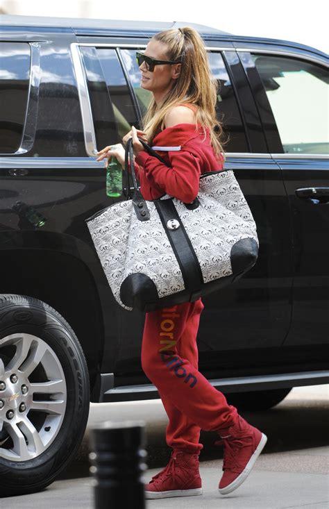 Heidi Klum Looking Casual Wearing Her Aviator Nation