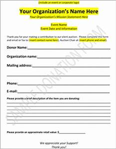 downloadable charity auction donation form template With fundraising form letter