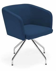 Chaise Bleu Marine : chaise vintage pivotante pour espace d 39 accueil ~ Teatrodelosmanantiales.com Idées de Décoration