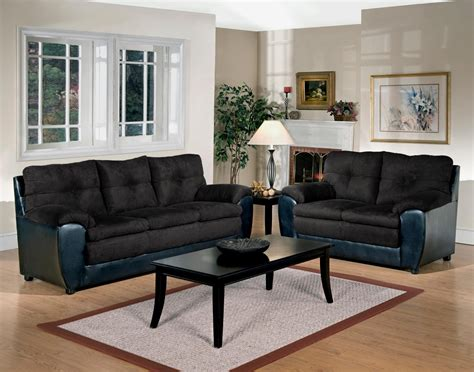 Black Sofa And Loveseat Black White Couch Set Patterned