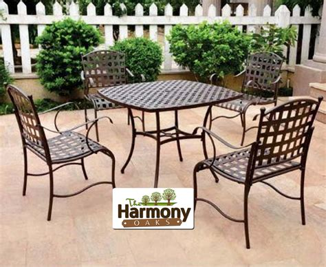 patio furniture dining set outdoor clearance iron metal