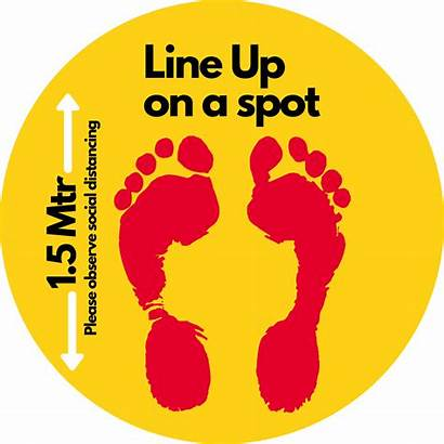 Floor Distancing Stickers Social Covid Yellow Decals
