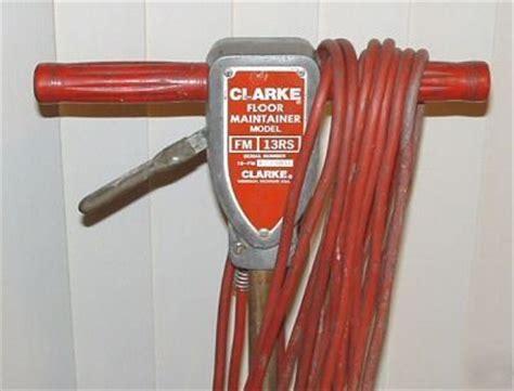 clarke fm 13 floor maintainer buffer polisher sander