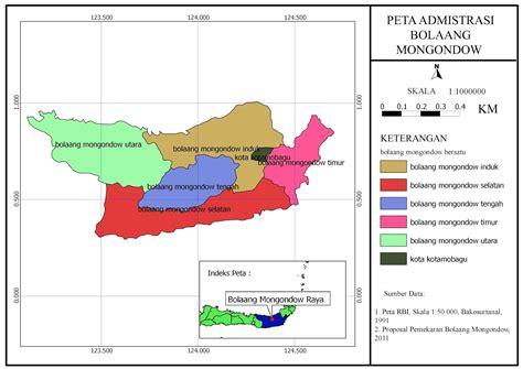 peta admistrasi bolaang mongondow blog geografi