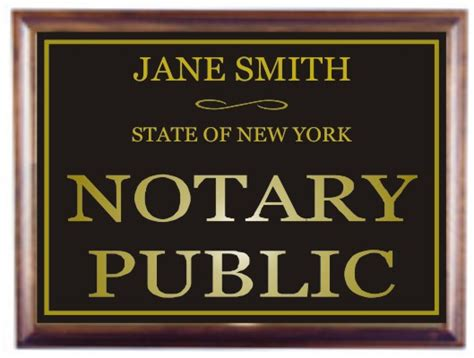 state street help desk notary signs engraved rubberstch com free shipping