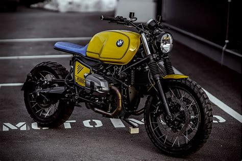 Bmw R Nine T Scrambler Modification by The Amazing Yellow Scrambler Bmw R Nine T By Nct