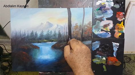 How To Paint A Waterfall Landscape With Oil Colors