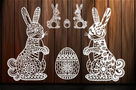 Easter Bunny Svg, Zentangle, Mandala, Swirl, Scroll