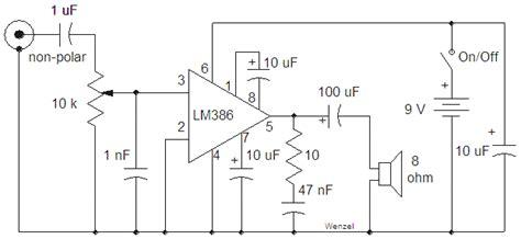 simple lm audio amplifier circuit diagram  circuit