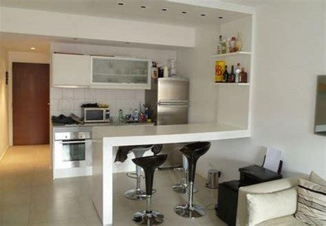 muebles de cocina  monoambiente ideas departamentos