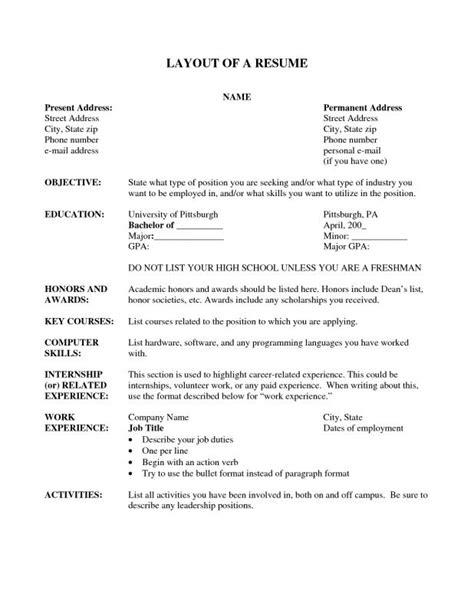 Resume Set Up by Resume Setup Exles Musiccityspiritsandcocktail