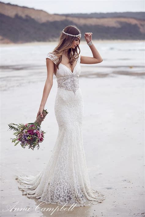 Bohemian Style Wedding Dresses for Western Brides u2013 Designers Outfits Collection