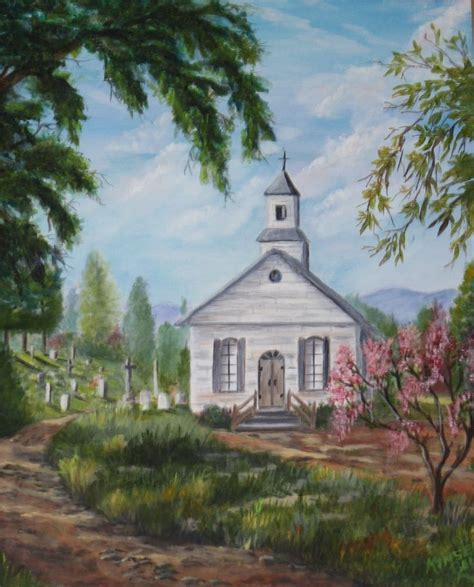 Drawings Of Old Country Churches Landscapes Gallery