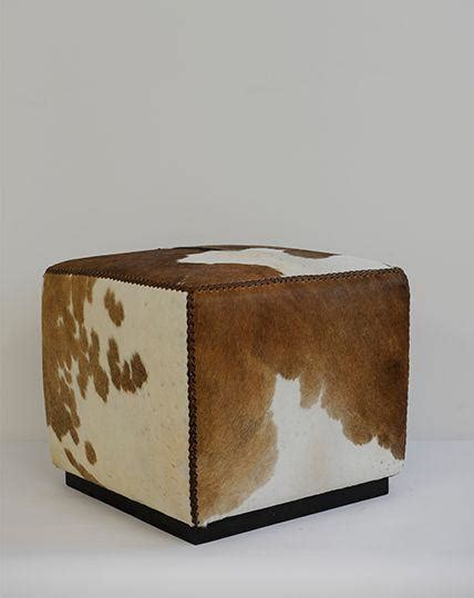 Cowhide Ottoman Cube by Cowhide Cube Ottoman Republic Home