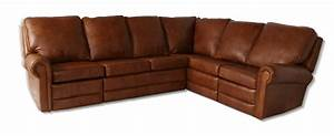 Virginia reclining leather sectional leather creations for Sectional sofas virginia