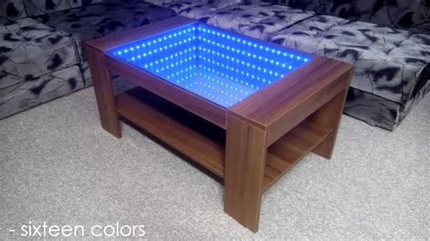 Infinity Mirror Coffee Table (self Made) Youtube