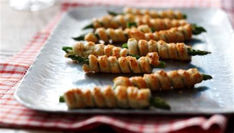 food recipes asparagus and puff pastry cigars