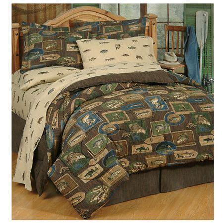 delectably yours bedding reel fish bedding comforter set