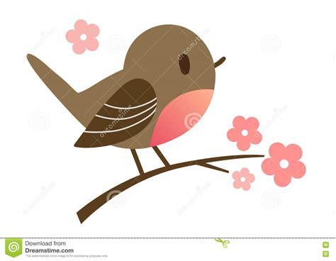 Cute Cartoon Bird In Flat Vector Style Stock Vector