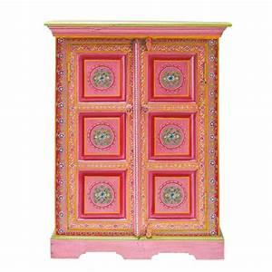 Cabinet De Rangement En Manguier Massif Multicolore L 72