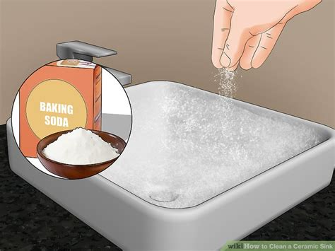 how to clean ceramic sinks in kitchen 3 ways to clean a ceramic sink wikihow 9328