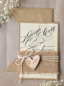 rustic wedding invitations 22 burlap wedding invitation ideas weddingomania