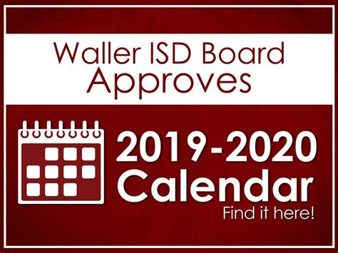 waller isd board approves school calendar