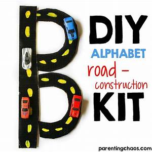 diy alphabet road construction kit parenting chaos With construction alphabet letters