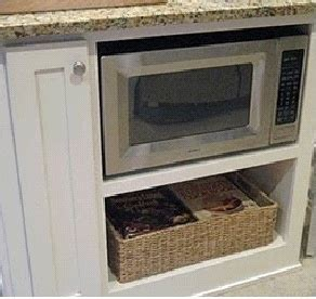 microwave in island cabinet microwave cabinet in kitchen island kitchen pinterest